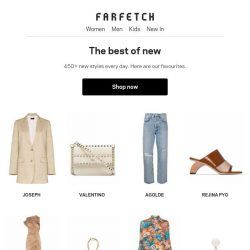 [Farfetch] New looks good on you. Shop the latest arrivals here