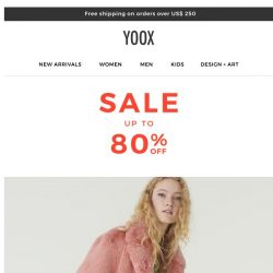 [Yoox] Sale: Now with up to 80% OFF