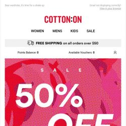 [Cotton On] 50% off all your faves + so much more