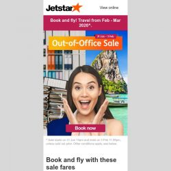 [Jetstar] ✈ Out-of-Office Sale fares from $58^ all-in to Phuket, Penang and more!