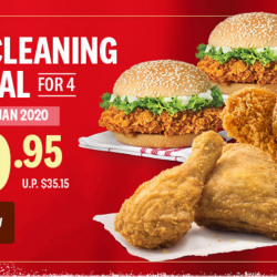 KFC: Delivery Exclusive Spring Cleaning Special - Get 5 Pcs of Chicken, 2 Zinger & 2 Med Whipped Potato at only $19.95!