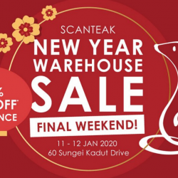 Scanteak: New Year Warehouse Clearance Sale with Up to 70% OFF Teak Furniture from only $12.90!
