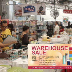 Lock & Lock: Warehouse Sale 2020 with Up to 70% OFF Household Items from Lock & Lock, Algo and more!