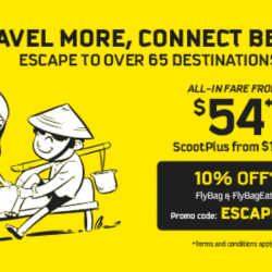 Scoot: Escape to Over 65 Destinations like Ho Chi Minh City, Taipei & Perth from SGD54!