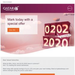 [Qatar] It is not just any date - Save up to 10% more today