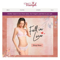 [Triumph] Romantic Lingerie, Just for you this Valentines