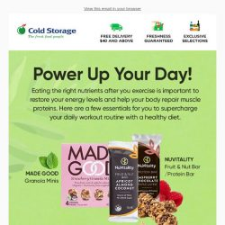 [Cold Storage] Power Up Your Day With Essential Nutrients!💪