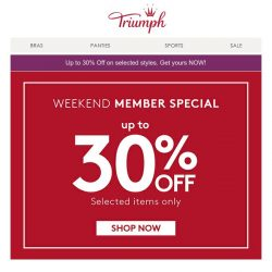 [Triumph] Weekend Member Special is Happening now!