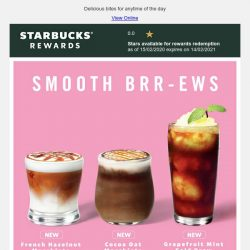 [Starbucks] New in: Smooth brews crafted for you