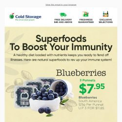 [Cold Storage] Grab Superfoods To Boost Your Immunity!🍓