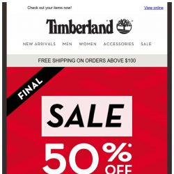 [Timberland] Don't Wait ! The Final Sale is still on🔥🔥🔥