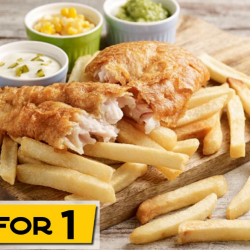 Big Fish Small Fish: Flash E-Coupon to Enjoy a 1-for-1 Classic Fish & Chips at JCube!