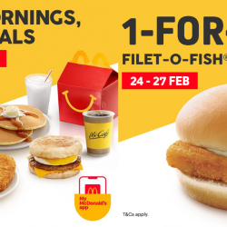Mcdonald's: Enjoy 1-for-1 Filet-O-Fish (ALC) with McDonald's App!