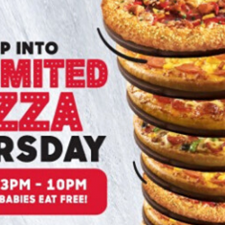Pizza Hut: Unlimited Pizza Thursday - Leap Year Babies Eat FREE!