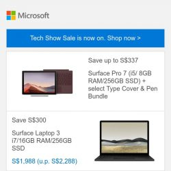 [Microsoft Store] Tech Show Sale: Save up to 32% on Surface devices