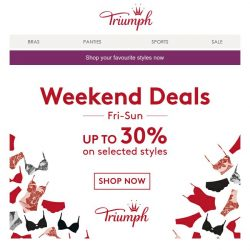 [Triumph] (Online Exclusive) Get your perfect fit with Triumph's weekend deals