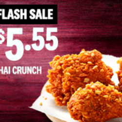 KFC: Enjoy 3 Pieces of Spicy Thai Crunch Chicken at $5.55!