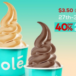 Yolé: Enjoy 40% OFF Medium Cups & Limited Edition Flavours!