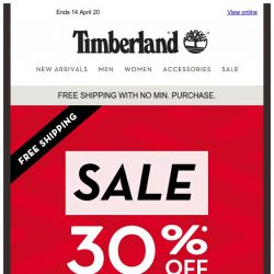 [Timberland] 30% Off New Arrivals and Best Sellers