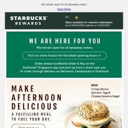 [Starbucks] Make afternoon delicious