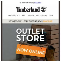 [Timberland] Get Excited with our New Outlet e-shop