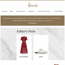 [Harrods] A treat for your inbox