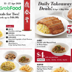 Din Tai Fung: Enjoy Exclusive $29.80 Delivery Deals & Daily Takeaway Deals!