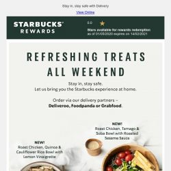 [Starbucks] Refreshing treats to enjoy all weekend