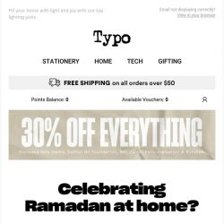 [typo] ✨ Celebrate Ramadan at home with 30% off! ✨