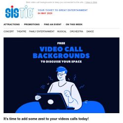 [SISTIC] Want some live entertainment video call backgrounds? We've got you covered.