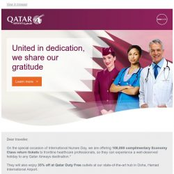 [Qatar] 100,000 complimentary tickets for healthcare professionals