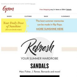 [6pm] Sandals, Dresses, Jumpsuits and more!