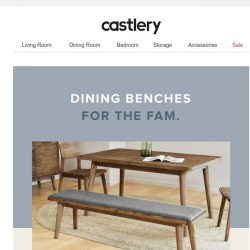 [Castlery] Get your seat upgrade...withourdining benches😉