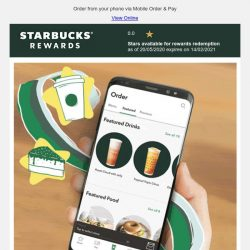 [Starbucks] Get your coffee in a breeze 📱