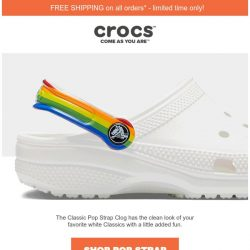 [Crocs Singapore] Add a pop to your step: The Classic Pop Strap Clog