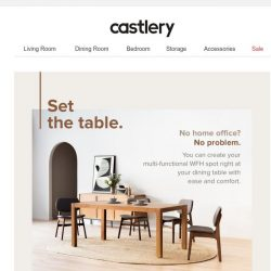 [Castlery] How to make your dining table a WFH spot.