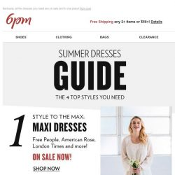 [6pm] The Summer Dresses Guide is here!