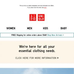[UNIQLO Singapore] Tackle Singapore's humidity with AIRism