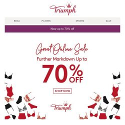[Triumph] Great Online Sale Now On!