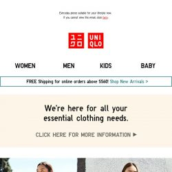 [UNIQLO Singapore] NEW ARRIVALS YOU DON'T WANT TO MISS