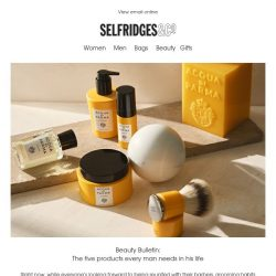 [Selfridges & Co] The 5 beauty products every man needs in his life