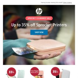 [HP Singapore] 35% Off Sprocket Printers!