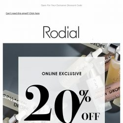 [RODIAL] Weekend Treat | 20% Off Booster Drops 😍