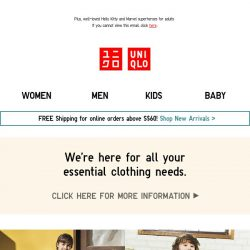 [UNIQLO Singapore] New UTs for the little ones!