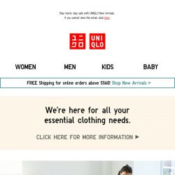 [UNIQLO Singapore] NEW Work-From-Home Outfits