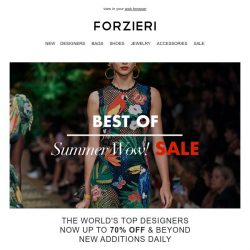 [Forzieri] Givenchy, Moschino, Dolce & gabbana | Best of Summer SALE