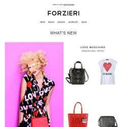 [Forzieri] New Arrivals from Love Moschino, Manila Grace & Ice Play