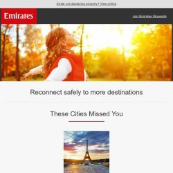 [Emirates] Get ready to fly better to even more destinations