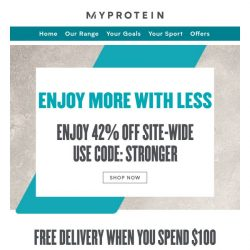 [MyProtein] Extra 5% Off On Your Order When You Buy Protein! 😊