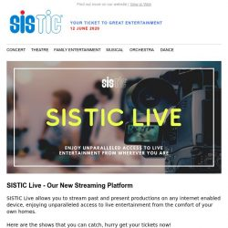 [SISTIC] Phase 1 entertainment for your needs. Await more to come.